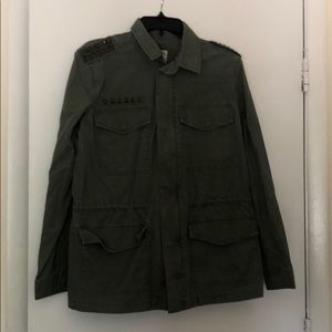 Army style jacket with stud accents